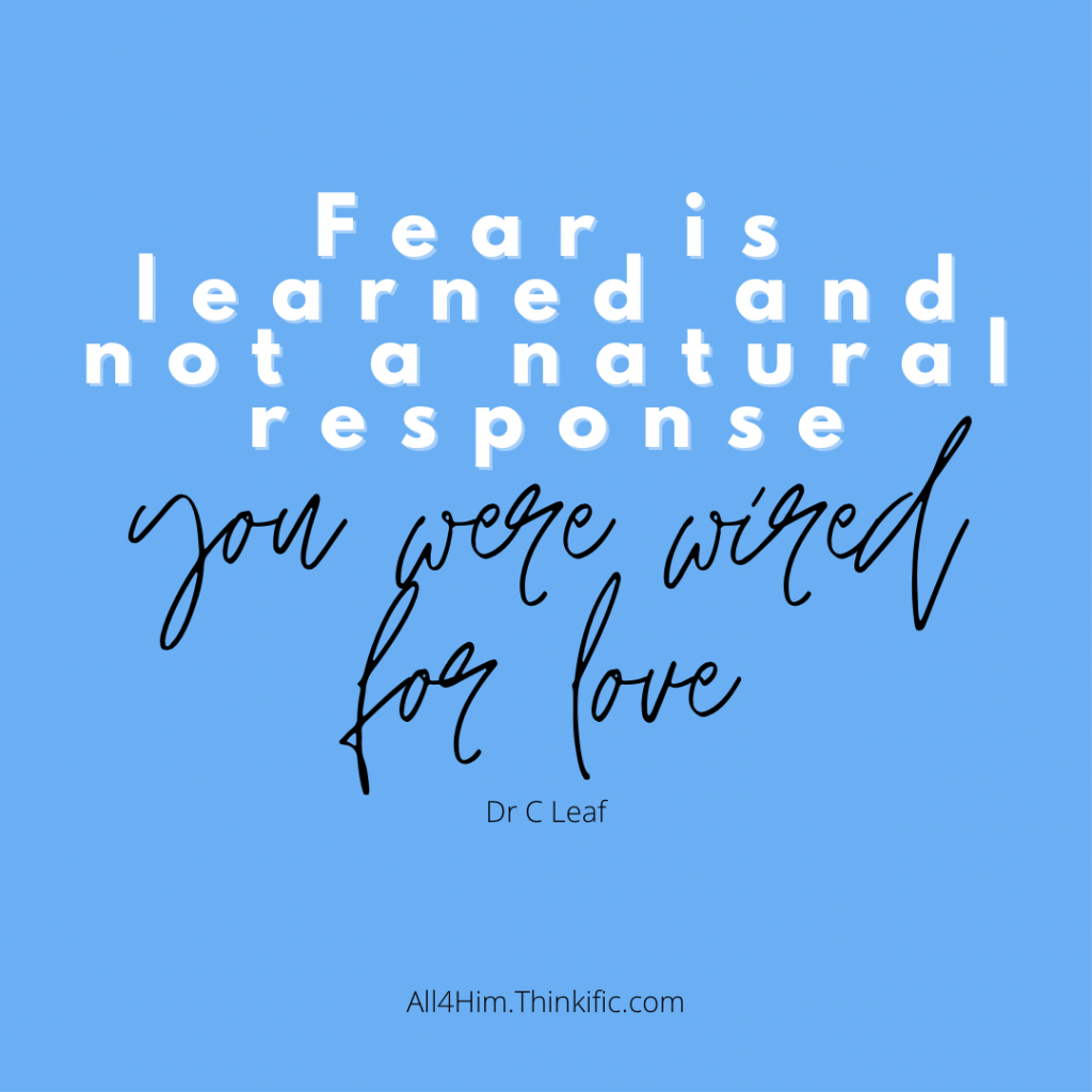 Fear is not a Natural Response